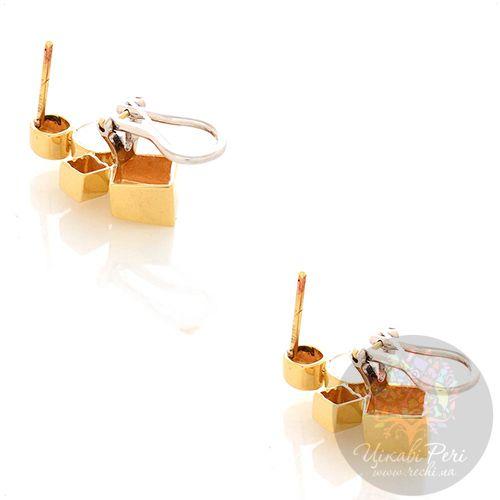 Серьги Roberto Bravo Q Collection из желтого и белого золота, фото