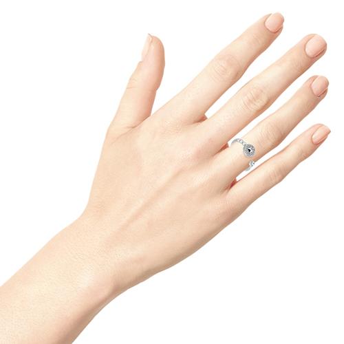 Серебряное кольцо Zeades с цирконами, фото