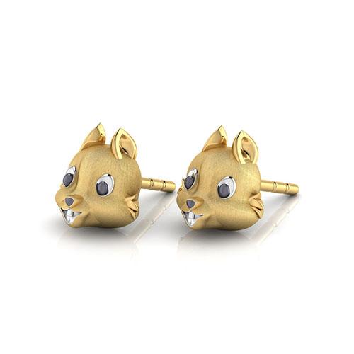 Золотые серьги-пусеты Perfecto Jewellery Kids Collection ue00500-yg0000, фото