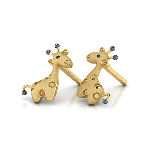 Золотые сегьги-пусеты Perfecto Jewellery Kids Collection Жирафы ue00503-yg0000, фото