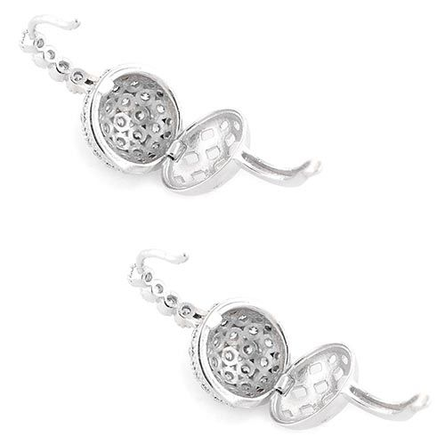 Серьги Parure Milano Silver серебряные в цирконах с секретом, фото
