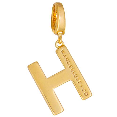 Подвеска Wanderlust + Co Make It Yours Alphabet буква H, фото