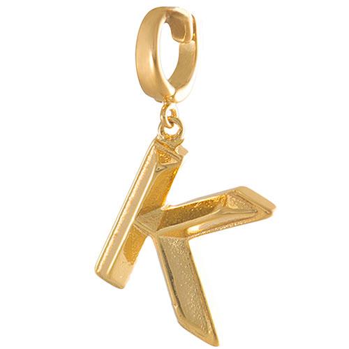Буква К Wanderlust + Co Make It Yours Alphabet в виде подвески, фото