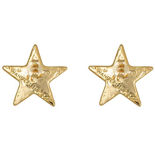 Серьги-гвоздики Wanderlust + Co Wild at Heart Stella в форме звезды, фото