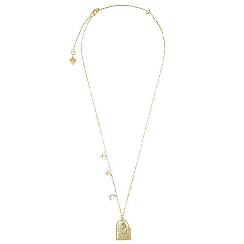 Ожерелье-медальон Wanderlust + Co Wild at Heart Astra с тиснением космических мотивов, фото