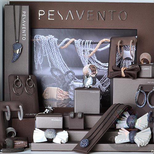 Серьги Pesavento с подвесками-кольцами серебряные с покрытием рутением, фото