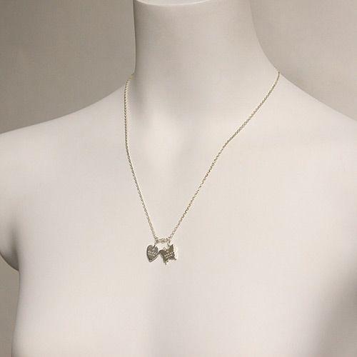 Подвеска Gucci из серебра Trademark heart and butterfly, фото