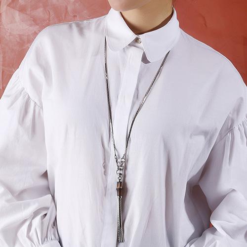 Подвеска Gucci из серебра Bamboo with cobra tassel, фото
