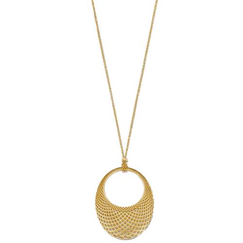 Ожерелье Gucci Diamantissima из желтого золота с подвеской овальной формы, фото