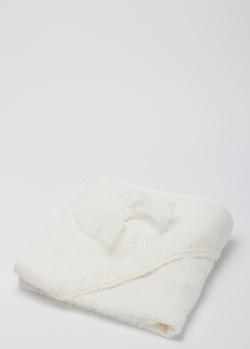 Детское полотенце La Perla Home с декором-бантом 70х70см, фото