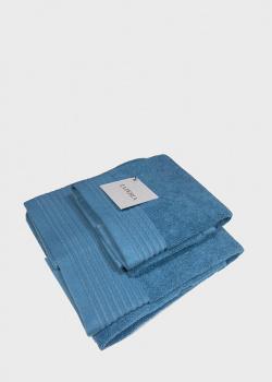 Набор полотенец La Perla Home Nervures Ospite синего цвета, фото
