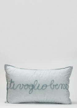 Голубая подушка La Perla Home Ti voglio bene Cuscino 30х50см, фото