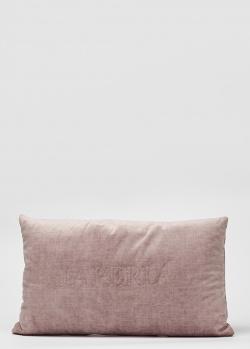 Розовая подушка La Perla Home Velluto Cuscino 30х50см, фото