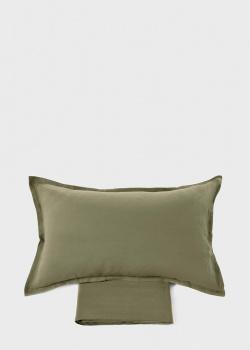 Постельное белье Fazzini Home Soffio Duvet Cover оливкового цвета 200х220см, фото
