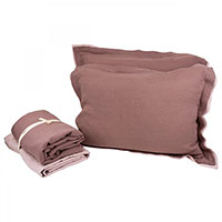 Льняной комплект постельного белья Devo Home Pudra Washed Linen, фото