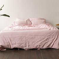 Двуспальный комплект постельного белья Etnodim розового цвета, фото