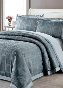 Комплект постельного белья Love You Жаккард серого цвета, фото