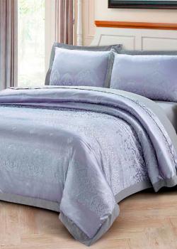 Постельное белье евроразмера Love You Жаккард фиолетового цвета, фото