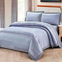 Комплект постельного белья Love You Жаккард фиолетового цвета с орнаментом, фото