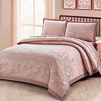 Комплект хлопкового постельного белья Love You Жаккард коричневого цвета с орнаментом, фото