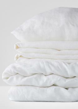 Белый комплект постельного белья Home me Тишина гор однотонный, фото