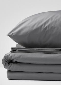 Комплект постельного белья Home me Вкус грозы из хлопка серого цвета, фото