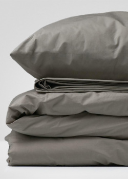 Двуспальный комплект постельного белья Home me Теплый латте однотонный, фото