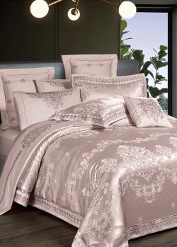 Двуспальное постельное белье Love You из сатина и жаккарда, фото