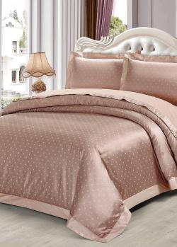 Двуспальное постельное белье Love You в горошок, фото