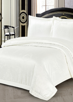 Двуспальное постельное белье Love You белого цвета, фото