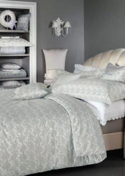 Комплект постельного белья Blumarine Macrame серого цвета, фото