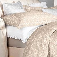 Комплект постельного белья Blumarine Macrame бежевого цвета, фото