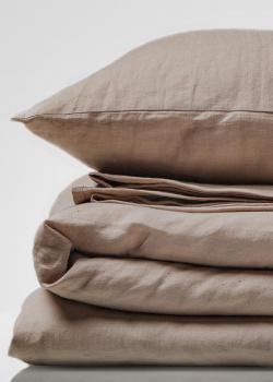 Льняной комплект постельного белья Home me Миндаль с молоком, фото