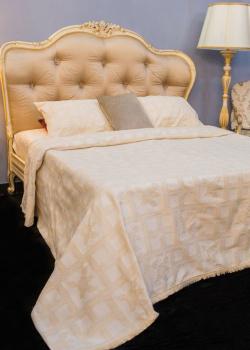 Покрывало бежевое Villa Grazia Bruna Premium с орнаментом + 2 наволочки, фото