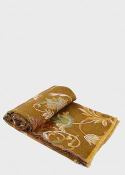 Двухсторонний плед Shingora Henna Blush горчично-бежевого цвета 130х180см, фото