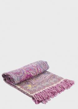 Розовый плед Shingora Lilac Tint с орнаментом 150х180см, фото