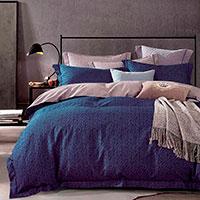 Комплект постельного белья Love You LUX синего цвета, фото