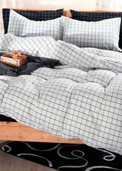 Комплект постельного белья Love You Варенный хлопок белого цвета с орнаментом, фото