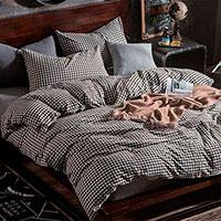 Комплект постельного белья Love You Варенный хлопок серого цвета с орнаментом, фото