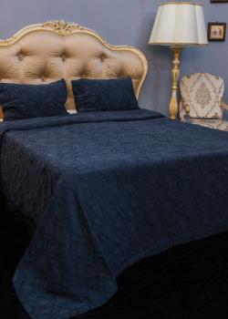 Покрывало  темно-синее Villa Grazia Nos Premium с орнаментом, фото