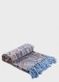 Шерстяной плед Shingora Persian Touch Pastel с узором и бахромой 130х180см, фото