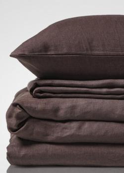 Льняной комплект постельного белья Home me Горячий шоколад, фото