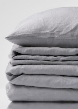 Льняной двуспальный комплект постельного белья Home me Зефирная дымка, фото