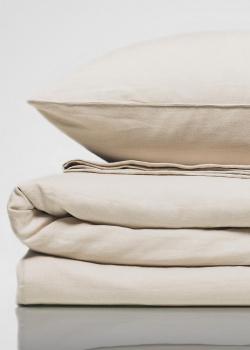 Льняное двуспальное постельное белье Home me Нежное созерцание, фото