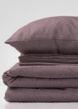 Комплект семейного постельного белья Home me Ароматное утро коричневого цвета, фото
