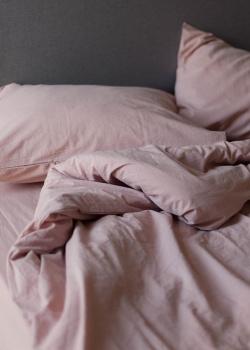 Розовый комплект постельного белья Home me Пудровый закат, фото