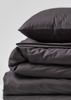 Комплект постельного белья Home me Таинственность встречи графитового цвета, фото