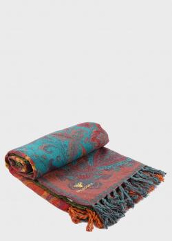 Шерстяной плед Shingora Zen Desire с растительным орнаментом 150х200см, фото