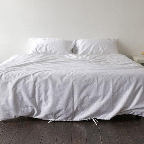 Полуторный комплект постельного белья Etnodim из хлопка белого цвета, фото