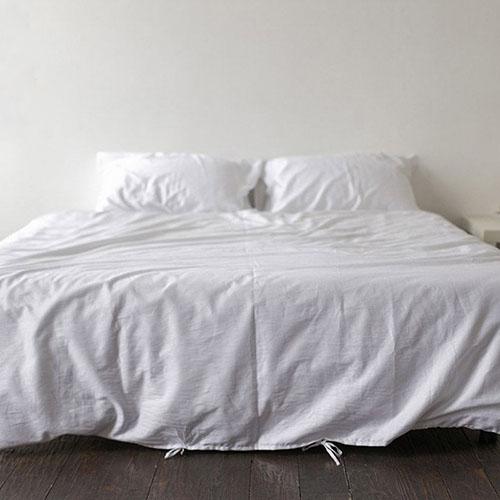 Двуспальный комплект постельного белья Etnodim из хлопка белого цвета, фото